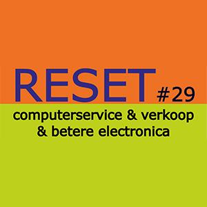 Wij zijn gewoon open, alleen onze winkel RESET computerverkoop en service op nr. 29 is wegens vakantie gesloten.
