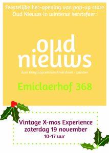 Oud Nieuws viert opening Emiclaerhof 368 met een Vintage X-mas Experience op 19 november