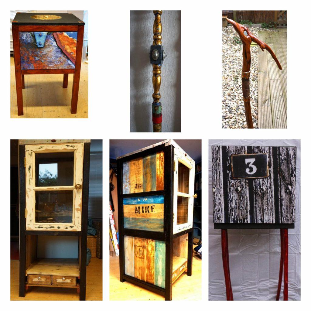 Verschillende werken van Daan Vosskuhler